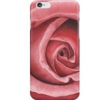Close Up Rose - Dry Brush Oil Painting iPhone Case/Skin