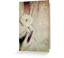 To hold a rose so sweet Greeting Card