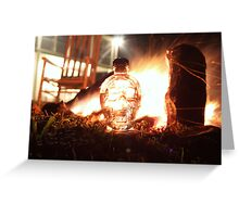 Crystal Skull Camp Fire Greeting Card