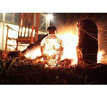 Crystal Skull Camp Fire Photographic Print