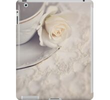 Cream Rose, Lace, and China Cup. iPad Case/Skin