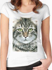 Cats Face - Katzengesicht Women's Fitted Scoop T-Shirt
