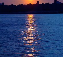 Sunset over Manhattan by Katerina Tassiopoulos