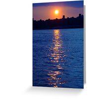 Sunset over Manhattan Greeting Card
