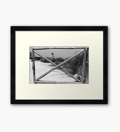 Gate + WindMill Framed Print
