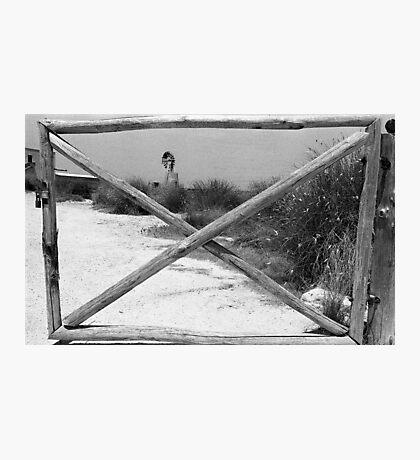 Gate + WindMill Photographic Print