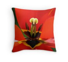 Red Is The Colour. Throw Pillow