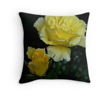 The Before And After Of A Yellow Rose...  Throw Pillow