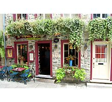 A Beautiful Little French Restaurant in Quebec Photographic Print