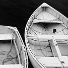 Two rowboats at Port Clyde Harbor, Maine by fauselr