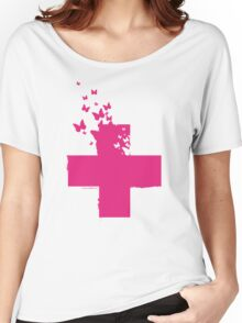 Rescue Pink /// Women's Relaxed Fit T-Shirt