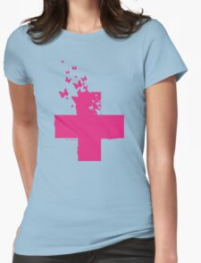 Rescue Pink /// Womens Fitted T-Shirt