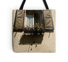 window with flowers Tote Bag