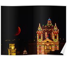 LIJA CHURCH BY MOON LIGHT Poster