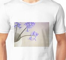 Blue- purple flowers in white china cup. Unisex T-Shirt