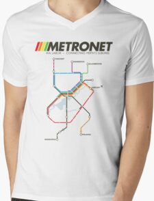 RETRO METRONET: 2013's plan Mens V-Neck T-Shirt