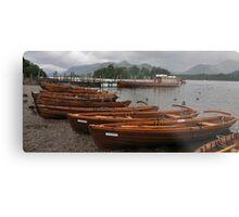 Rowing Boat Line Metal Print