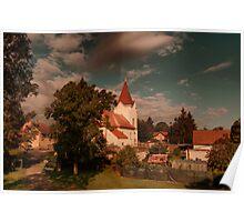 Czech Village Church Poster