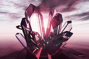 Rose Quartz Crystal Dawn by Esther Johnson