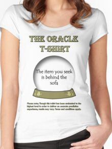 The Item You Seek; The Oracle T-shirt Women's Fitted Scoop T-Shirt