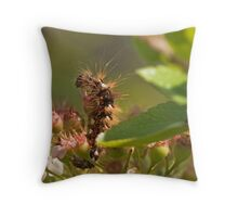 Knot Dagger Caterpillar Throw Pillow