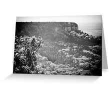 measuring the tree line b/w Greeting Card
