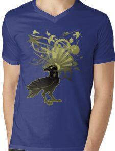 Kamikaze Raven Mens V-Neck T-Shirt