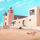 Church at Acoma, New Mexico ~ Oil painting by Barbara Applegate