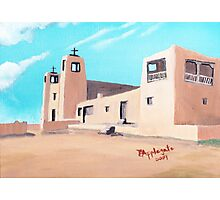 Church at Acoma, New Mexico ~ Oil painting Photographic Print