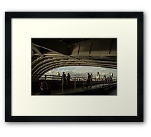 Saturday in Spring Under Hungerford Bridge Framed Print
