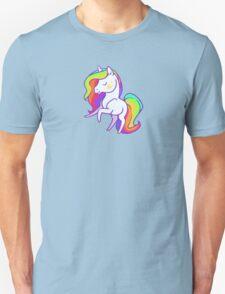 Cute chibi rainbow mane unicorn Unisex T-Shirt