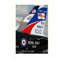 Fly Navy 100 Art Print