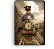 Albert was always on time Canvas Print