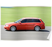 The Red RS4 Poster