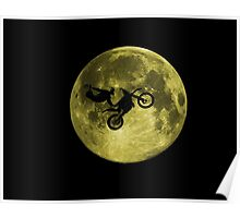 Awesome Freestyle in da moon - Motocross MX  Poster