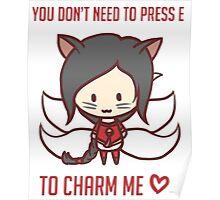 Ahri Chibi Charm Love Poster