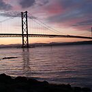 Sunset over the Forth by emanon