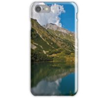Reflection from the mountain lake iPhone Case/Skin