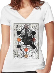 Map of the Great Tree Women's Fitted V-Neck T-Shirt