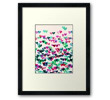 Heart Connections II - watercolor painting (color variation) Framed Print
