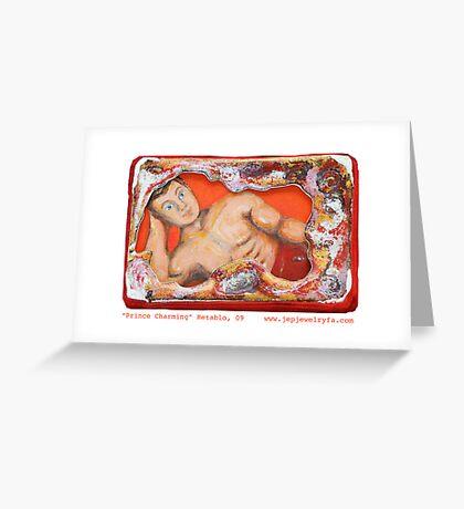 """""""Prince Charming"""" Retablo  Greeting Card"""