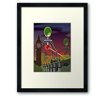 The Martians Take Parliament Framed Print