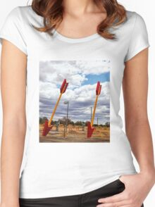 Route 66 -  Twin Arrows Women's Fitted Scoop T-Shirt