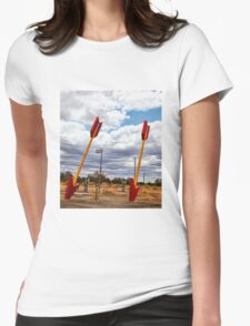 Route 66 -  Twin Arrows Womens Fitted T-Shirt