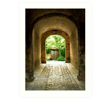 Citadel tunnel, Blaye Art Print
