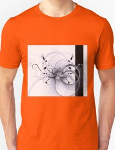 Abstract Floral Design Unisex T-Shirt
