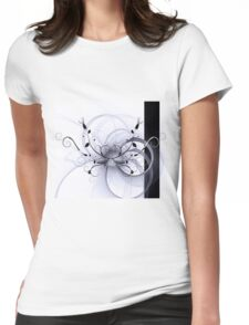 Abstract Floral Design Womens Fitted T-Shirt