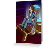The Traveller Departs Greeting Card
