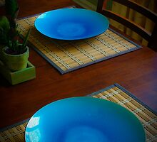 Blue Plate Setting by Charles Plant
