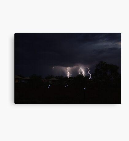 Karijini Lightning Canvas Print